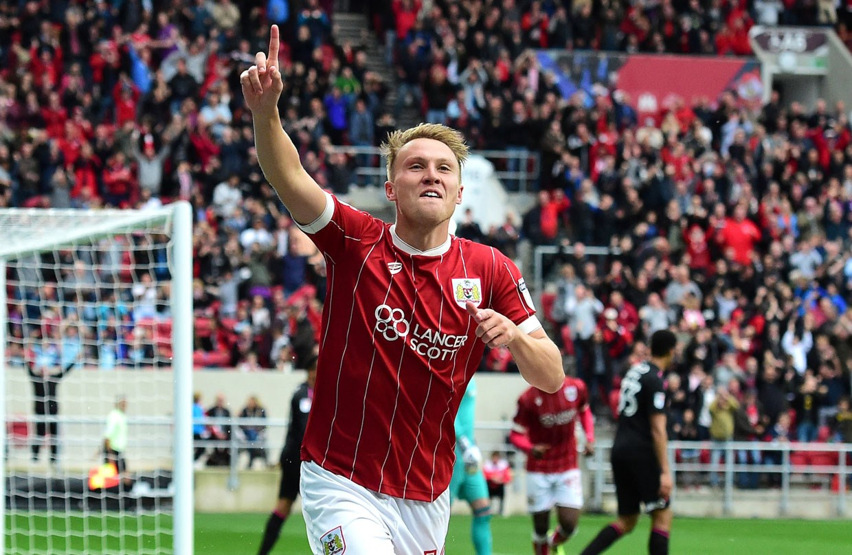 Image result for cauley woodrow vs bristol city